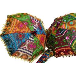 Guru-Shop Dekoobjekt Bunter Baumwoll-Sonnenschirm aus Indien