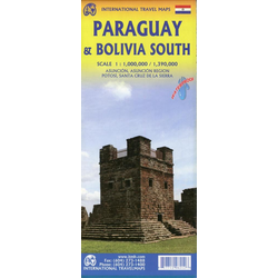 Map Paraguay & Bolivia South 1 : 1 000 000