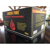 Greek Fire Premium Grill-Holzkohlebriketts 10 kg