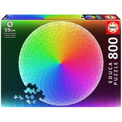 Educa Puzzle Regenbogenfarben 800 Teile Rund - Puzzle, 800 Puzzleteile