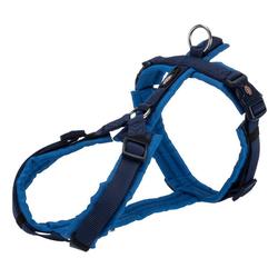 TRIXIE Hunde-Geschirr Premium Trekking Geschirr, Nylon blau S - 44 cm - 53 cm