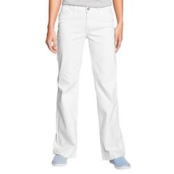 Eddie Bauer  Trouser Leg Jeans - Curvy Damen Weiß Gr. 4