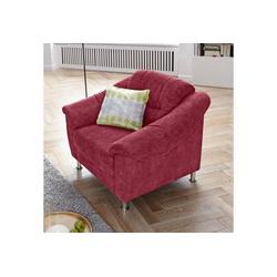 sit&more Sessel, mit Federkern rot