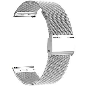 Uhrenarmbänder,16mm 18mm 20mm 22mm Edelstahl Metallgitterband,Schnellverschluss Uhrenarmband,intelligente Uhrenarmbänder für Männer Frauen (18mm,silver)
