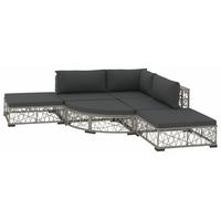 vidaXL Garten-Lounge-Set 6-tlg. grau 46807