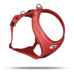 Curli Hunde-Geschirr Belka Comfort Geschirr, Nylon rot XS - 46 cm - 62 cm