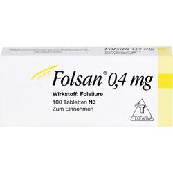 FOLSAN 0,4 mg Tabletten 100 St.