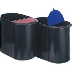 Helit H6103993 Papierkorb 29l Kunststoff Schwarz, Blau 1St.