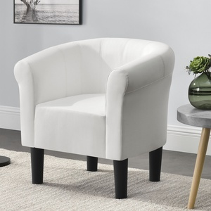 [en.casa] Sessel Weiß Clubsessel Loungesessel Cocktailsessel Relaxsessel Lounge