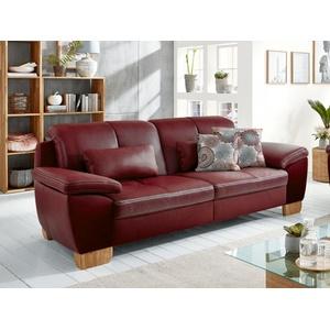 Sofa 3 Sitzer Valmondo Gianna Leder rot VALMONDO i)3KV Gianna (B 220 cm) VALMONDO