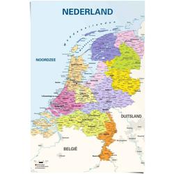Reinders! Poster Poster Schulkarte Niederlande Niederländisch - Niederländischer Text, Landkarten (1 Stück)