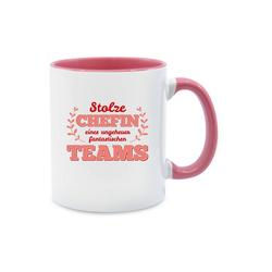 Shirtracer Tasse Stolze Chefin eines ungeheuer fantastischen Teams - Sonstige Berufe - Tasse zweifarbig - Tassen, tasse chefin