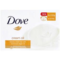 Dove Cream Oil Feinseife mit Arganöl 4x100 g