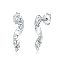 Elli Paar Ohrstecker Spirale Geo Glamour Kristalle Silber