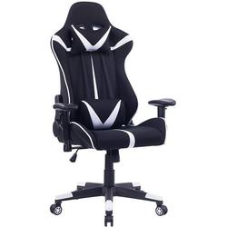 Woltu Gaming-Stuhl Bürostuhl aus Stoffbezug mit Kopf und Lendenkissen