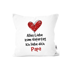 MoonWorks Dekokissen Kissen-Bezug Spruch Alles Liebe zum Vatertag Geschenk Papa Vatertagsgeschenk Deko-Kissen MoonWorks® weiß