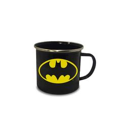 LOGOSHIRT Emaillebecher mit Batman-Logo bunt
