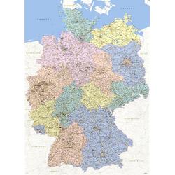 empireposter Poster, Deutschlandkarte, Landkarten 1:640.000 - Germany Map German Version
