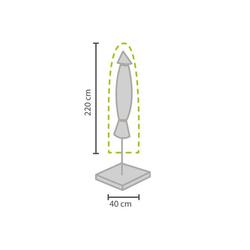 PEREL Sonnenschirm-Schutzhülle (1-St), Abdeckung Schutz-Hülle Garten-Schirm Abdeck-Haube bis Ø 400cm Gartenmöbel