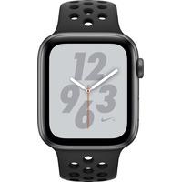 Nike+ Series 4 (GPS) 44mm Aluminuimgehäuse space grau mit Nike Sportarmband anthrazit / schwarz