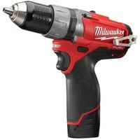 Milwaukee M12 CPD-202X Ohne Schlüssel 1,3 kg Schwarz, Grau, Rot