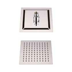 Hudson Reed - Wassersparender Duschkopf Edelstahl - Quadratisch - 200mm x 200mm