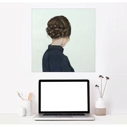 Posterlounge Wandbild, Frau mit Flechtfrisur 60 cm x 60 cm
