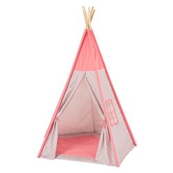 howa Tipi-Zelt Tori, Spielzelt für Kinder, mit Bodenmatte rosa / grau