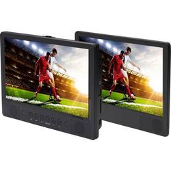 Denver MTW-1086 Kopfstützen DVD-Player mit 2 Monitoren Bilddiagonale=25.65cm (10.1 Zoll)