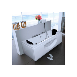 HOME DELUXE Whirlpool-Badewanne White M, (5-tlg), B/T/H in cm: 180/90/55, mit Whirlpool-System