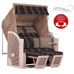 Strandkorb deVries PURE® Classic XL SUN PE white kubu Dessin 402