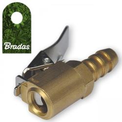 Messing Universal Druckluft Klemmnippel Ventilstecker 8mm für Reifendruckprüfer Bradas 8239