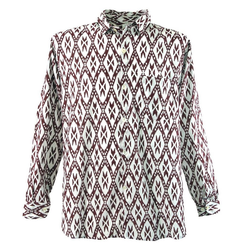 Guru-Shop Hemd & Shirt Goa Hippie Hemd, Herrenhemd - rot rot L