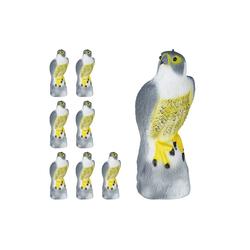 relaxdays Gartenfigur 8 x Vogelschreck Falke sitzend