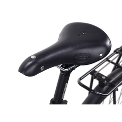 Gusti Leder Fahrradsattel Louison B., Fahrradsattel Ledersattel Sattel Vintage-Sattel Retro-Sattel Fahrrad Braun Leder schwarz