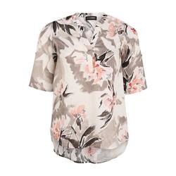 Bluse mit Allover-Muster Doris Streich koralle