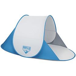 Pavillo™ Secura Beach Tent 192x120x85 cm, Strandmuschel, selbstaufbauend blau/weiß