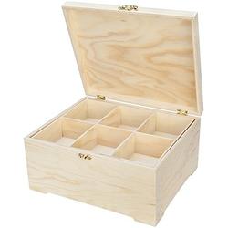 Sortierbox aus Holz, mit Sortierfach, 30 x 25 x 15 cm
