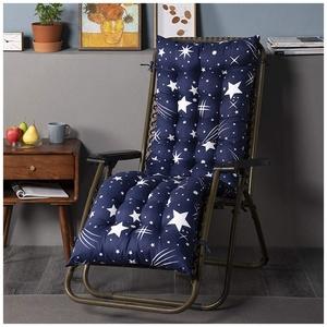 YOUCAI Auflage für Deckchair Liege-Stuhl Polster-Auflage Weich Und Bequem Dicker Bezug für Den Außengebrauch,48x120cm,Blau 3