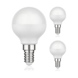 E14 LED Birne G45 4,6W =35W 350lm 130° weiß, 3 Stk.