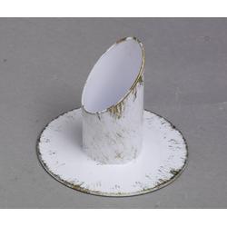Mega-Leuchter, Langkerzen Kommunionkerzenhalter weiß/gold für Ø 3 cm Kommunionkerzen