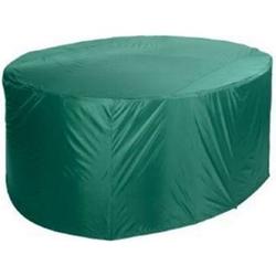 Grasekamp Schutzhülle 210x250cm oval Grün  Sitzgruppe Essgruppe Gartenmöbel  Möbelgruppe