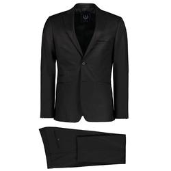 Lavard Schwarzer Anzug aus Wolle 34846  48