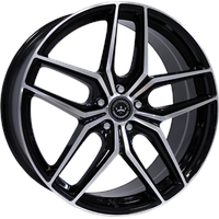 Meisterwerk MW02 black polished 8.5x20 ET35 - LK5/120 ML72.6 Alufelge schwarz