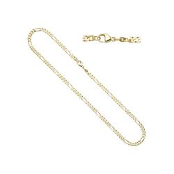 JOBO Goldkette, Figarokette 585 Gold 50 cm