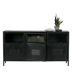 Factory Sideboard in Schwarz Metall