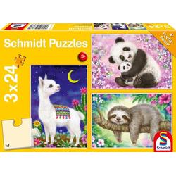 Panda, Faultier & Lama (Kinderpuzzle)