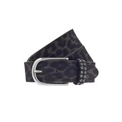 b.belt Ledergürtel, mit Kristallen von Swarovski grau Damen Ledergürtel Gürtel Accessoires