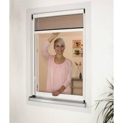 Insektenschutz Rollo 100 x 160 cm, braun, der moderne Fliegenvorhang für Fenster