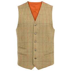 Alan Paine Combrook Tweed-Weste - elm